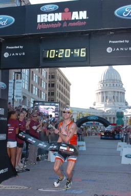 Drew at Ironman Wisconsin 2008